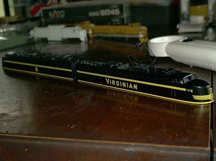 VGN EL-2B Virginian 3d printed Shapeways modeller SteamMonster's outstanding build of this model