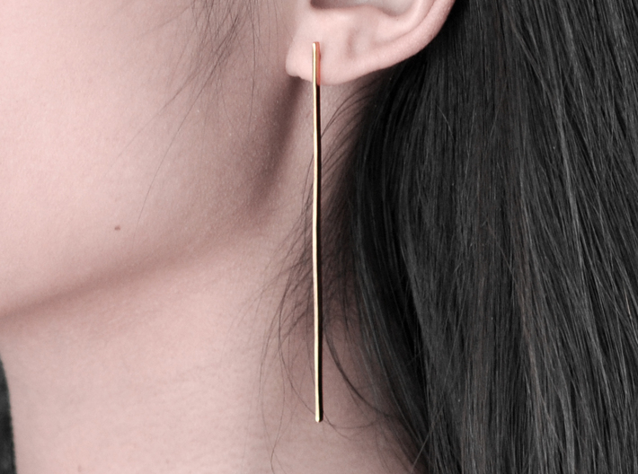 Line earrings 3d printed