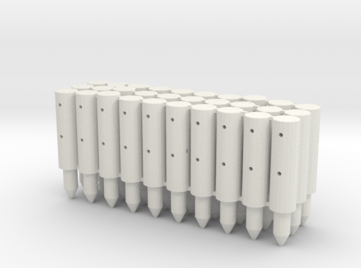 BP2-30, Round Cable Barrier Posts, 30 pcs 3d printed