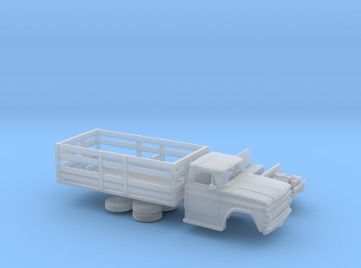 1/87 1962-66 Chevrolet C-50 Stake Bed 3d printed