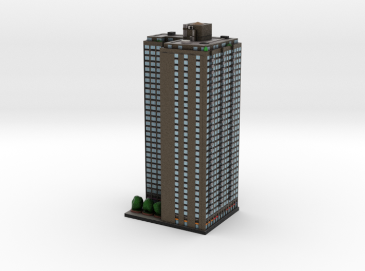 High Rise Apartment Building New York 4 x 4 3d printed