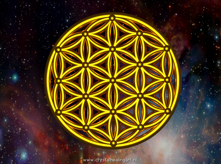 Flower Of Life - Medium 3d printed Artist impression of the seed of life