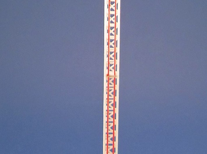 Power Tower - 1:220 3d printed bemalt und dekoriert - painted and decorated