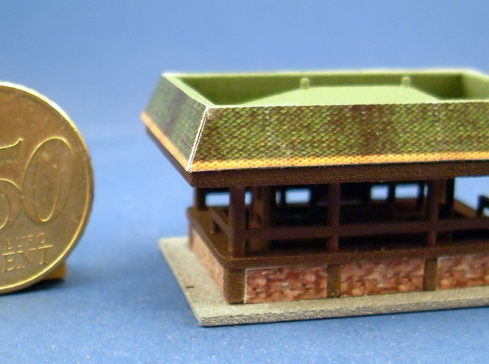 """""""Imbiss"""" - 1:220 (z scale) 3d printed bemalt und dekoriert - painted and decorated"""
