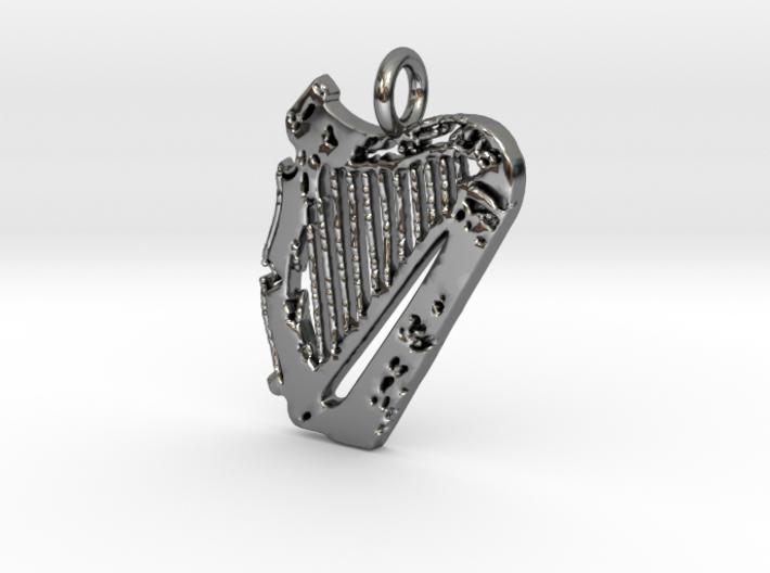 Harp Pendant 3d printed