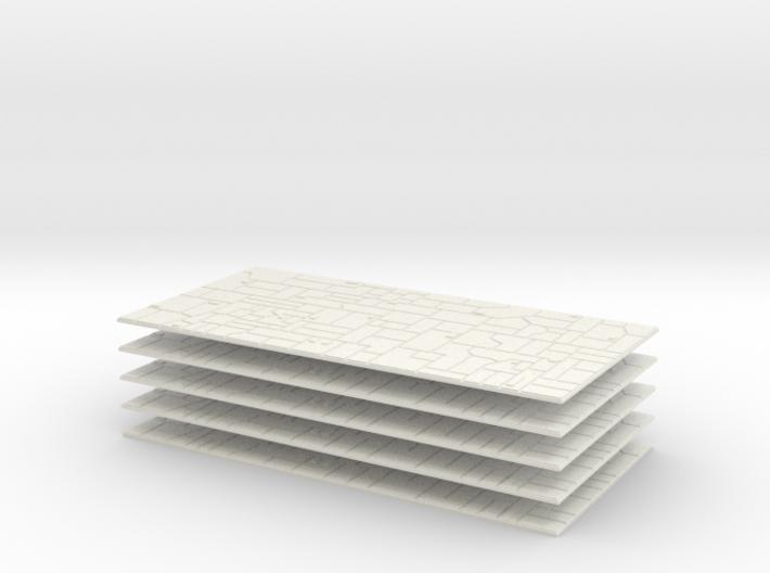 5x Starship Paneled Skin 3d printed