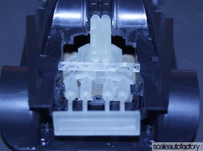 Mclaren F1 Engine V2.1 for Fujimi Scale 1/24 Kit 3d printed fit test in the fujimi kit - not glued yet.