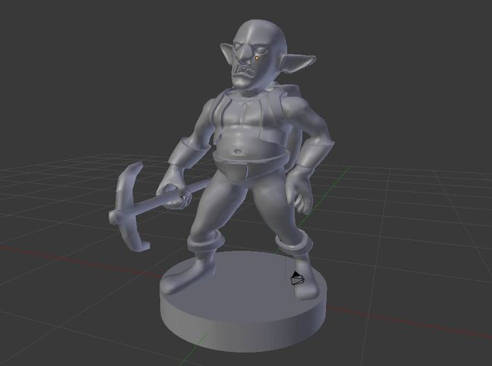 Svirfneblin ( Deep Gnome ) 3d printed