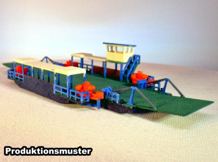 Modular Fähre - 1:220 3d printed bemalt und zusammengebaut - painted and assembled