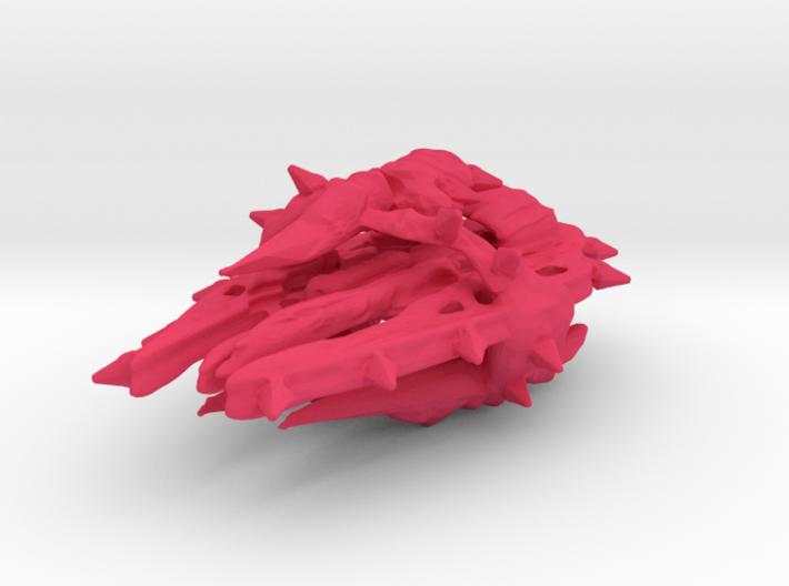 Colour Swarm Battleship 3d printed