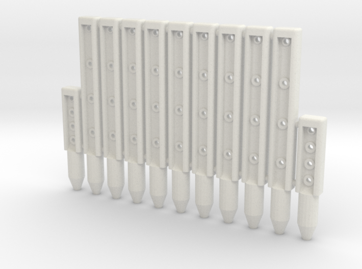 BP3-11, Wire-Rope Safety Barrier Posts 3d printed