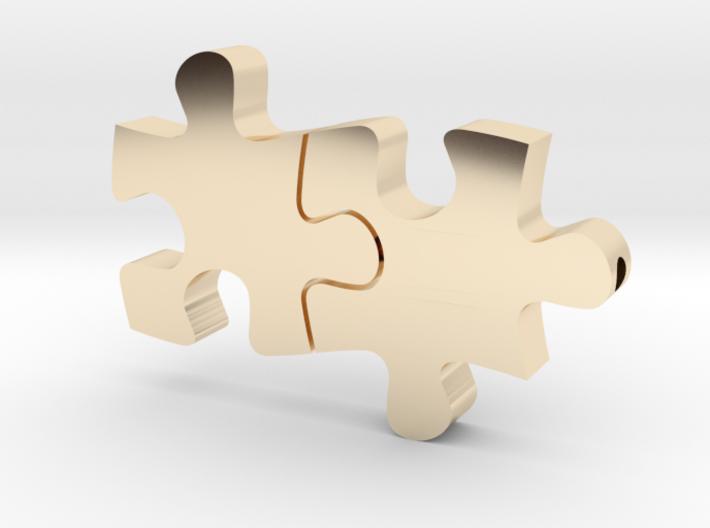 Puzzle pendant 3d printed