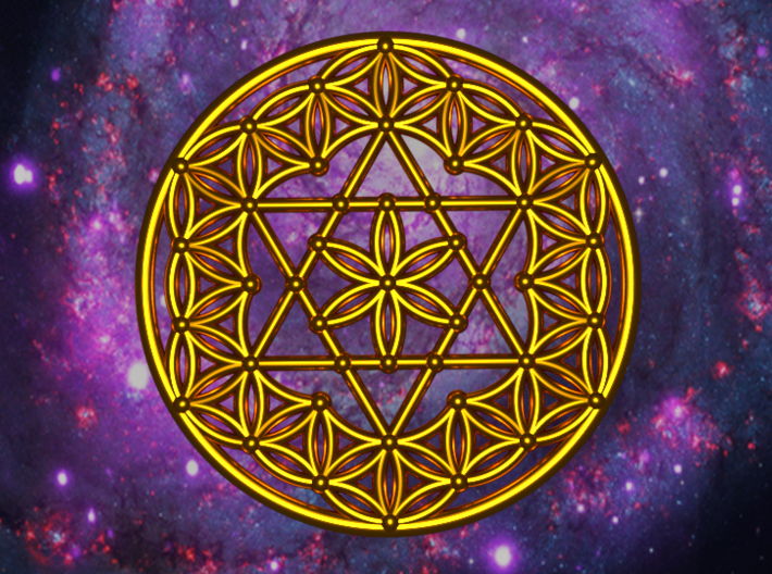 Flower Of Life - Merkaba 3d printed Artist impression of the Flower of life with merkaba
