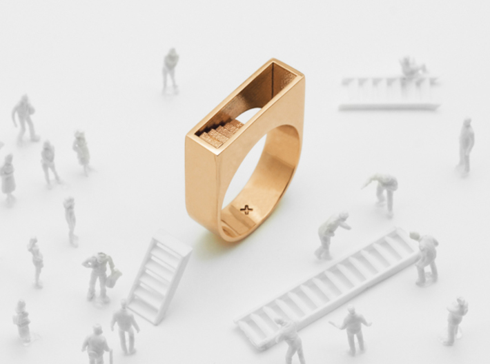 Stair Ring 3d printed