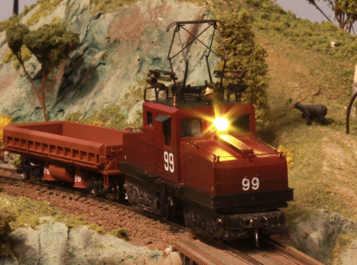 85 Ton GE Steeple Cab HO 3d printed Completed Locomotive