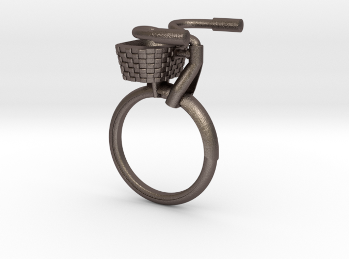 Bicycle Rings - Front Portion with Basket  3d printed