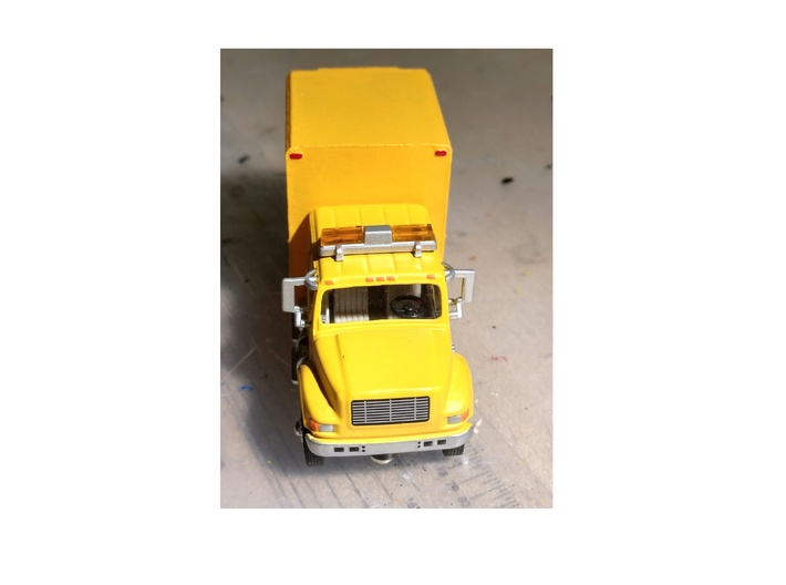 Utility Truck Work Bed 1-87 HO Scale  3d printed