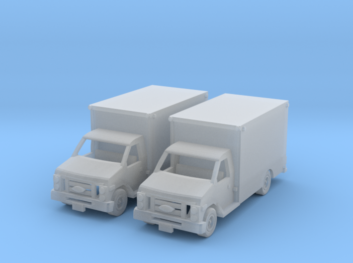 Ford E 450 Box Truck Z Scale 3d printed two box trucks Z scale