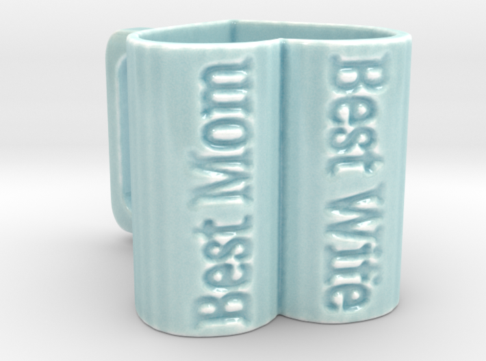 Heart Shaped Mug 3d printed