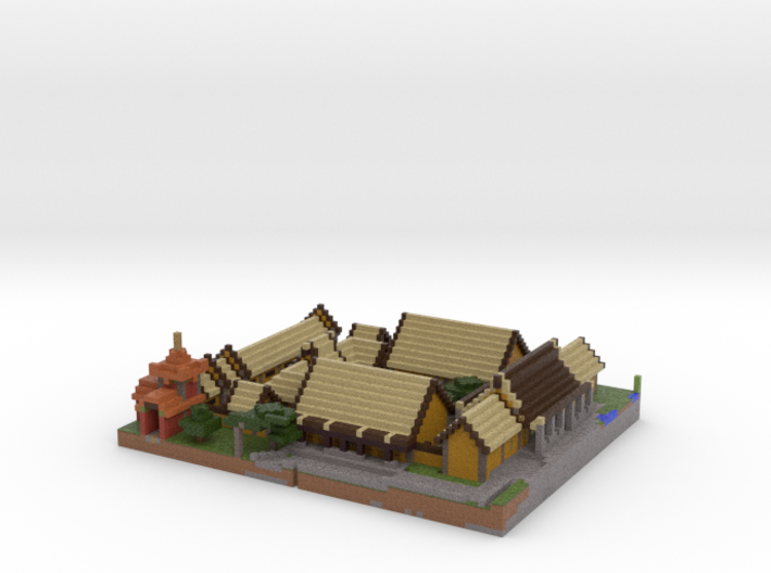 Piece of the Imperial Village 3d printed