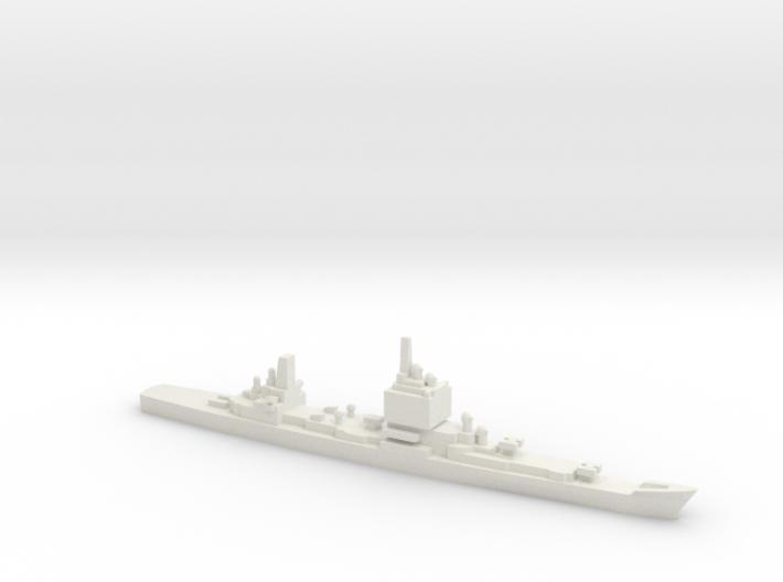 USS Long Beach, Final Layout, 1/3000 3d printed