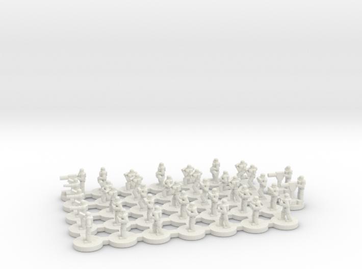Colony StormTrooper Platoon 1/270 3d printed