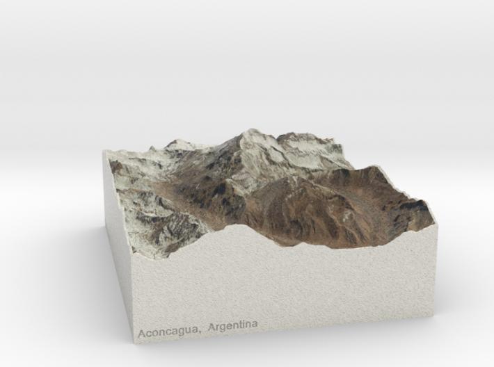 Aconcagua, Argentina, 1:100000 Explorer 3d printed