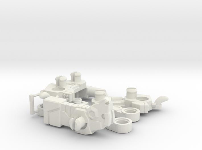 BisonZooka Transforming Weaponoid Kit (5mm) 3d printed