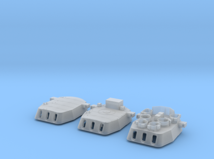 "1/200 16""/45 MKI HMS Nelson Turrets Only 1945 3d printed"