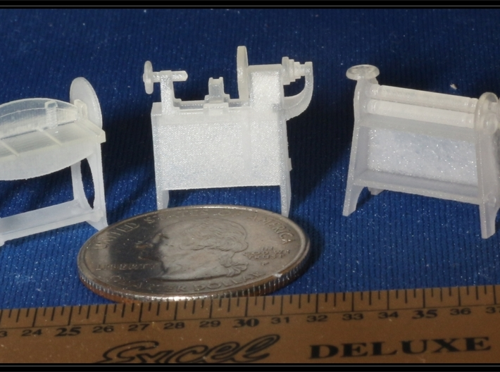 Small Machines for Metal Shop HO Scale 1/87 3d printed