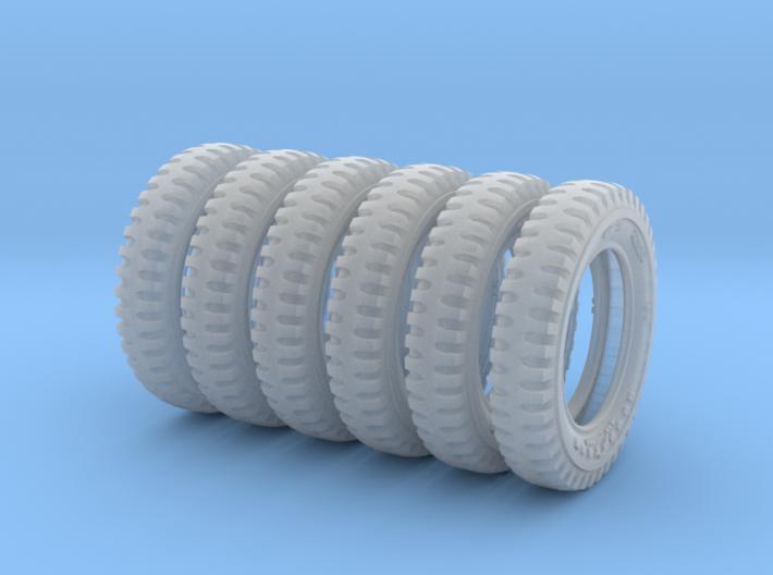 1-35 Tire 600x16 SIX UNITS Set 3d printed