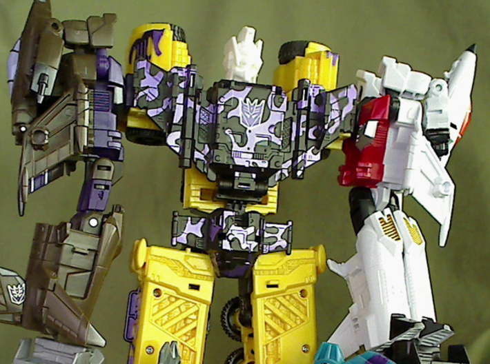 Nexus Prime head for CW Bruticus Small 3d printed test print from my 3d printer
