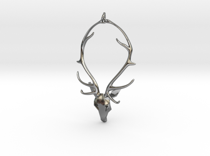 Staghead Pendant 3d printed