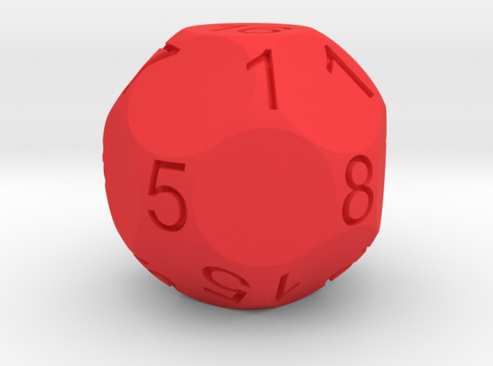 D17 Sphere Dice numbered from 0 to 16 3d printed