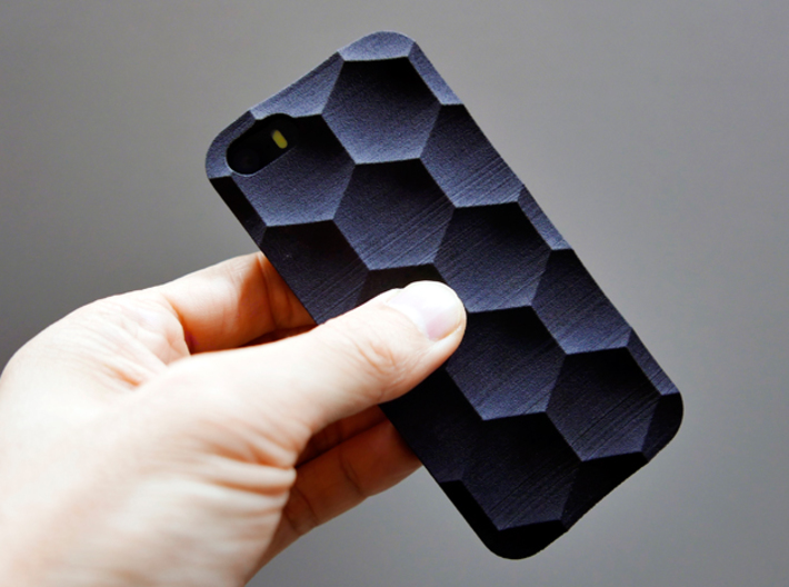 iPhone SE/5S Case_Hexagon 3d printed