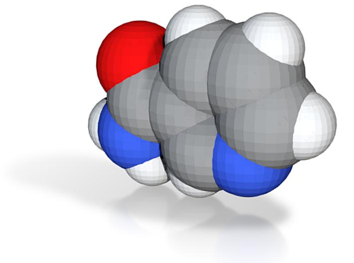 Vitamin b molecule (x40,000,000, 1A = 4mm) 3d printed