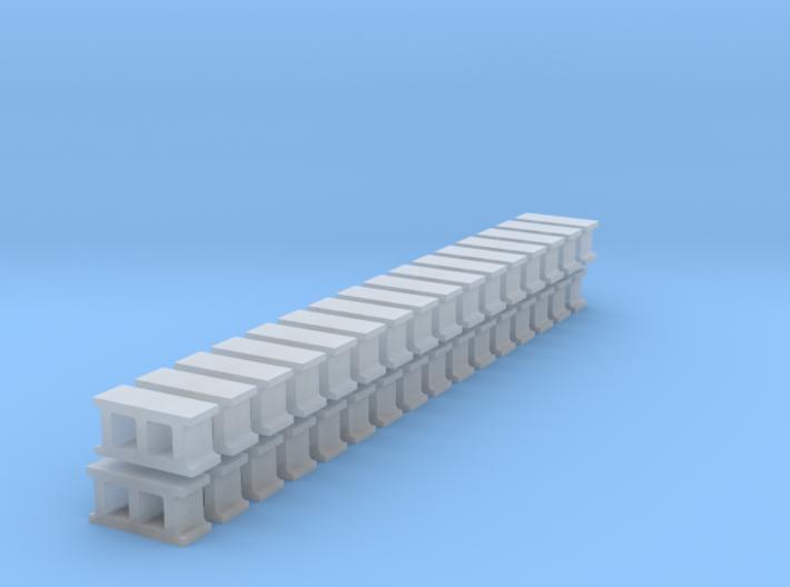 Cinderblocks in O Scale 3d printed