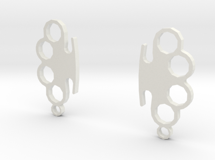 Knuckle-Duster - Earrings 3d printed