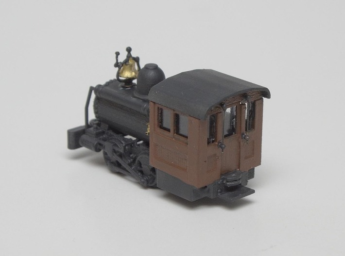 """HO Scale - 40.5"""" Gauge Compressed Air Porter 0-4-0 3d printed Painted with Brass Detail Parts added."""