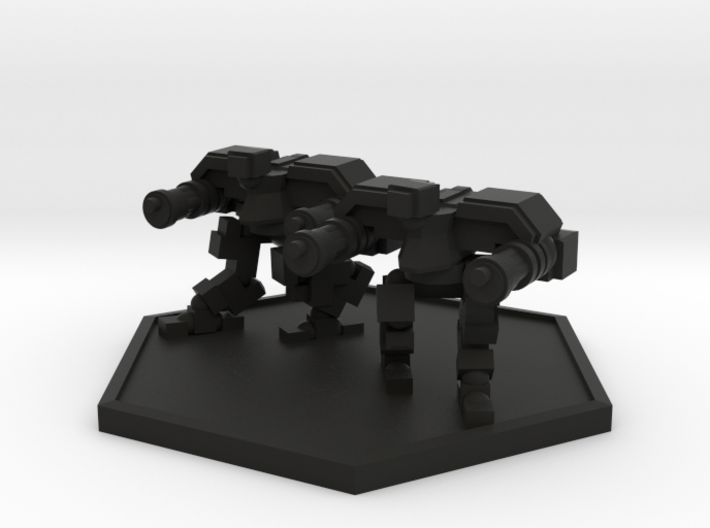 Colour Imperial Reaper Bot Team (Hex) 3d printed