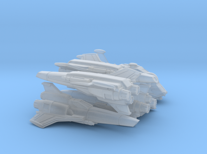 Viper Mk II Wing (Battlestar Galactica), 1/200 3d printed