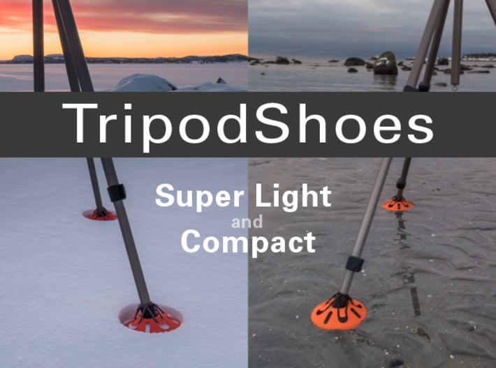 TripodShoes 3d printed Tripod Shoes for snow and mud