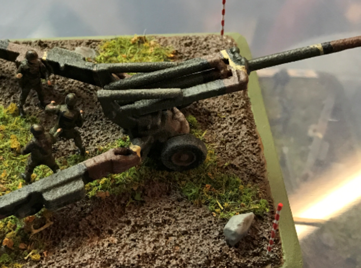 1/100 Scale M198 155mm Howitzer 3d printed