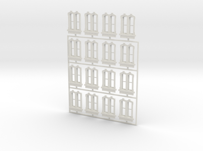 HO WCK Station Double Windows X 16 3d printed