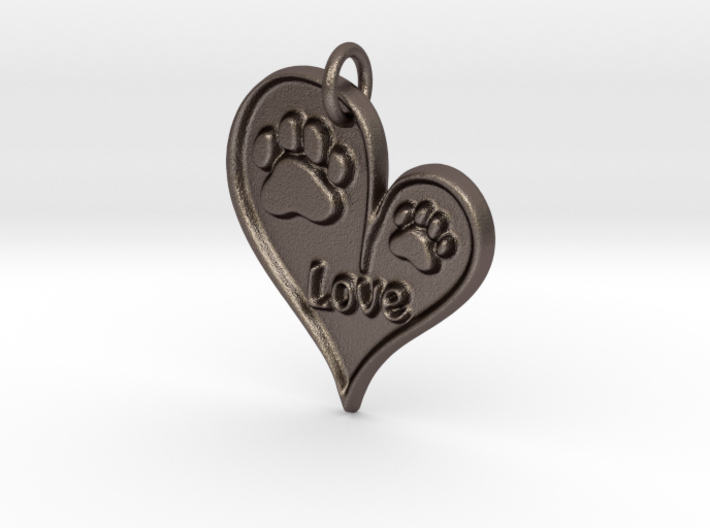 Pet Love Pendant 3d printed