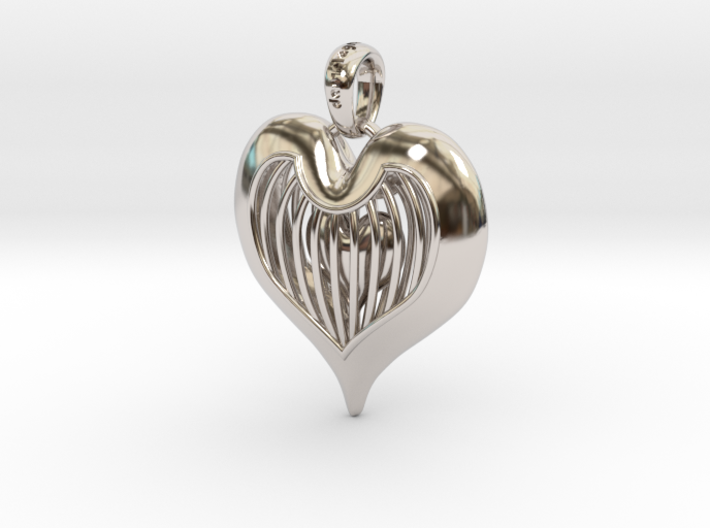 Heart In Cage - Valentine's Day 3d printed
