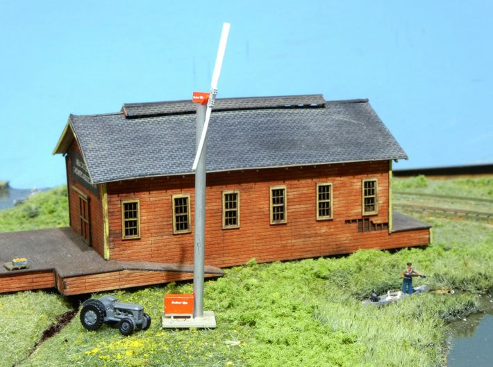 Orchard-Rite Wind Generator HO 3d printed Image shown is of the N Scale version.