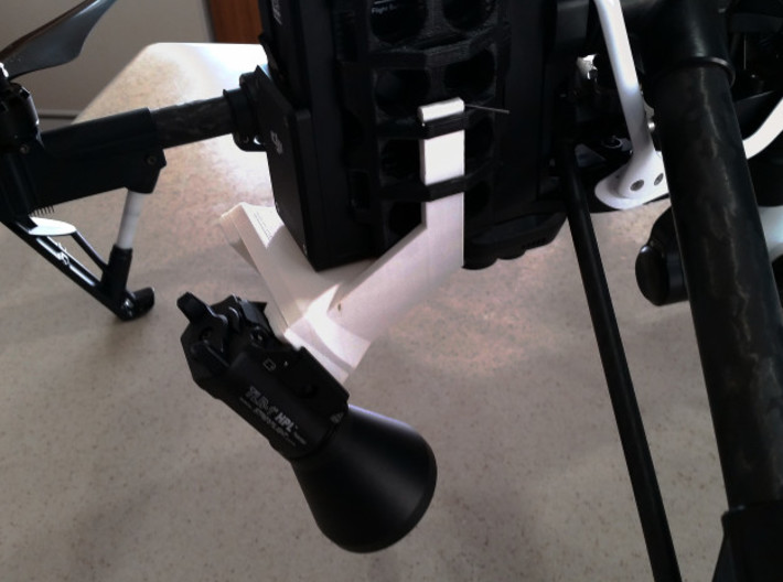 Inspire 1 Dual Searchlight mount - GoPro mount sys 3d printed