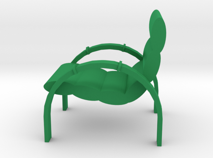 Lawn Chair for the Patio, Retro Style 3d printed Lawn Chair for the Patio, Retro Style, Green