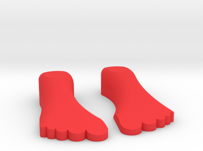 "1/10 SCALE FIVE FINGER SHOES ""IT'S A LIFE STYLE"" 3d printed"
